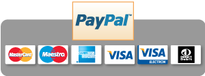 Paypal logo with accepted payment cards