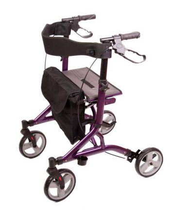 Zoom rollator walking aid in purple colour