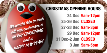 Robin with Christmas Opening hours for 2018