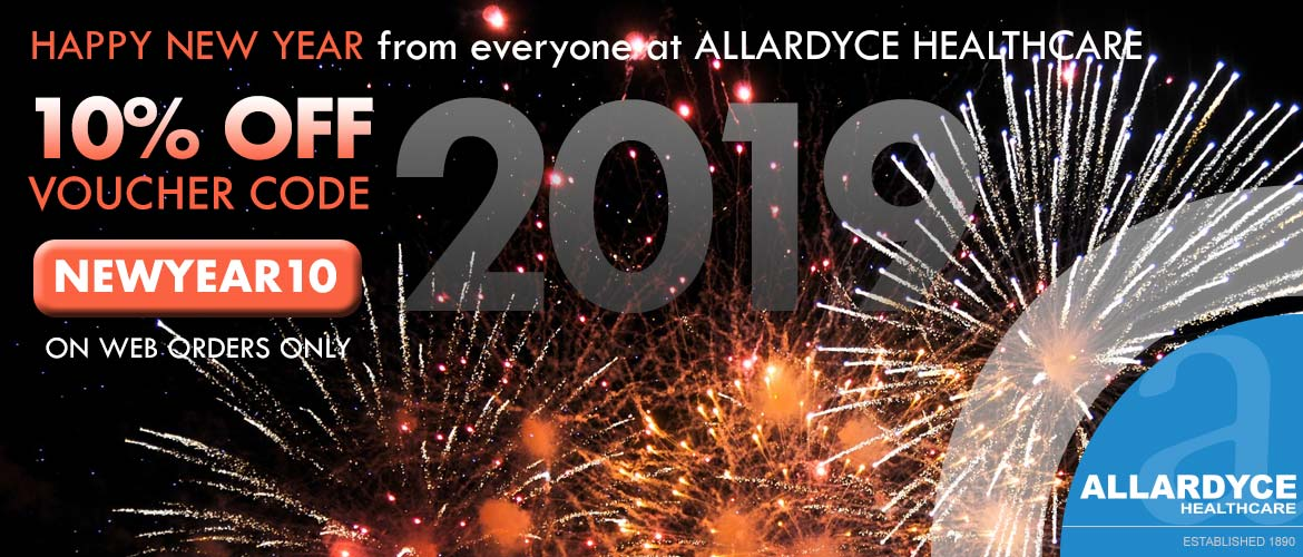 10% off code voucher NEWYEAR10 fireworks in the sky at night.